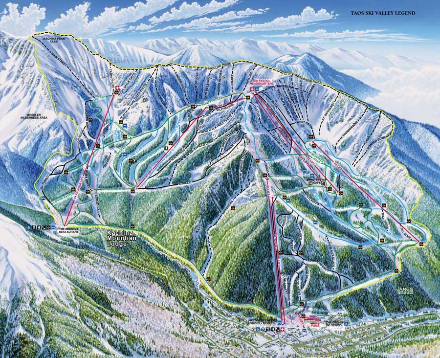 Taos Ski Valley Map Maps | The Village of Taos Ski Valley   Providing infrastructure